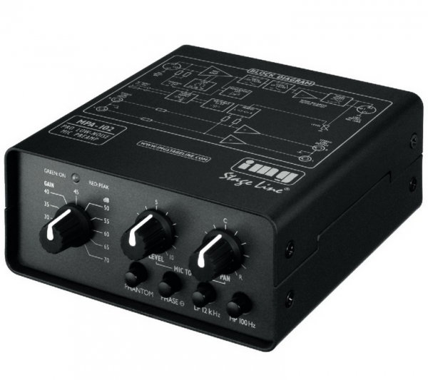 MPA-102 1-channel low-noise microphone preamplifier
